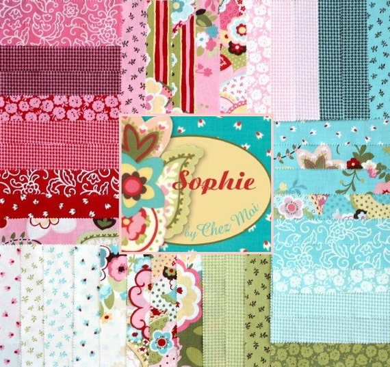 Sophie 5 inch charm pack Moda Fabric