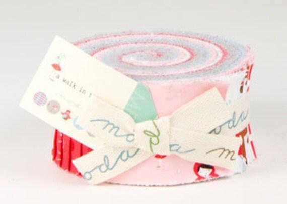 Jelly Roll Strips - A Walk in the Woods Moda Fabrics by aneela hoey