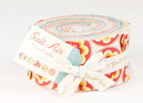 Jelly Roll Strips - Salt Air  Moda Fabrics by cosmo cricket