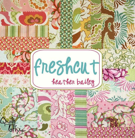 30 - 6 inch Charm Squares Pack Freshcut fabric Heather Bailey
