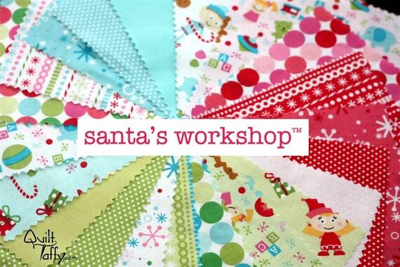 21 - 5 inch charm squares Santa's Workshop by Riley Blake