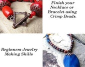 PDF Tutorial - How to Make a Necklace or Bracelet - beginning jewelry making technique