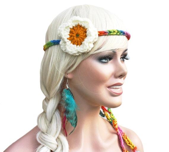 Hippie Tie Dye Headband Tie Dye Headband Crochet