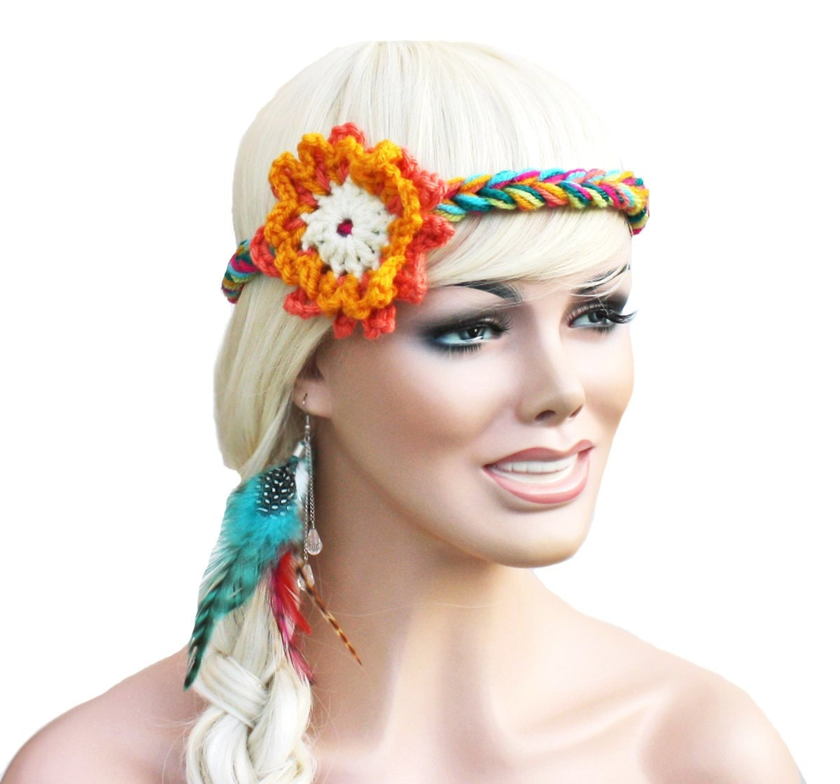 Flower Hippie Headband Flower Child