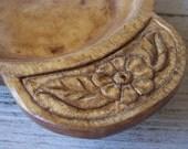 Handcarved Forest Flower Bowl