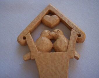 Love Birds Wooden Spoon