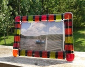 Warm Colors Fused Glass Frame