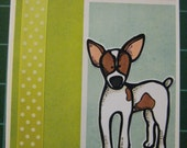 Rat Terrier Set of 5 cards and envelopes, Made to Order, Jack Russell Terrier, Parson Russell, Chihuahua