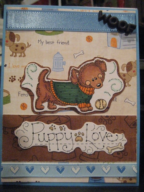 100% EFA Donation, ALL Proceeds Donated to Rescue: Dachshunds Set of Four Puppylove Cards and Envelopes