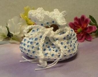 Blue Beaded Treasure Bag