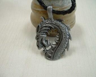 Pewter Dragon Pendant