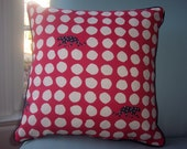 Red Leopard Spotted Pillow