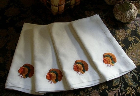 Thanksgiving cloth napkins page two thanksgiving wikii for Turkey napkins