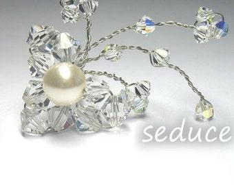Set of 3 Swarovski Bridal Hair Pins
