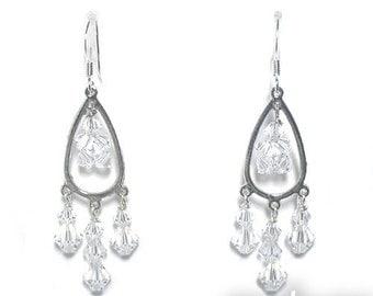 Swarovski Chandelier Crystal Earrings for Bride Bridesmaid