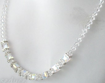 Swarovski Cube Necklace
