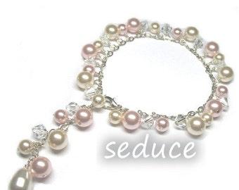 Swarovski Classic Bridal Pearl and Crystal Love Bracelet