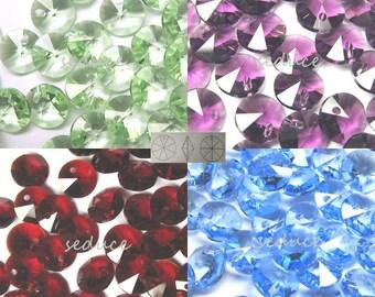 72 pcs CLEARANCE Swarovski 6200 6mm Rivoli Crystal Beads U PICK COLORS