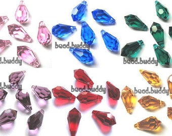 12 Swarovski 6000 11mm Teardrops - U PICK COLORS