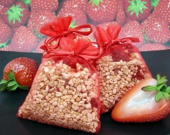 3-Pack - Strawberry Scented Potpourri Sachet