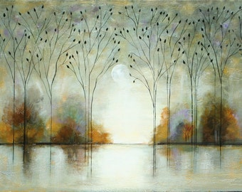 ABSTRACT TREE original landscape  painting textured art Made To Order Marems