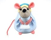 Alice in Wonderland Mouse ornament felt rat hamster mice cute gift for animal lover or collector - In stock