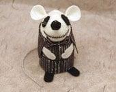 FREE SHIPPING Jack Skellington nightmare before Christmas Artisan Mouse Ornament cute felt mice rat ornament gift for Tim Burton fan
