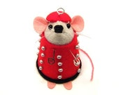 Doctor Who Dalek mouse ornament cute gift for animal lover or dr who collector - Dale the mouse dressed as a Dalek  - FREE SHIPPING