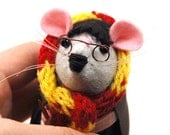 Harry Potter ornament felt mouse rat hamster mice cute gift for Harry Potter fan animal lover or collector - mto