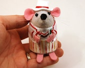 Doctor Who Peter Davison ornament felt mouse hamster rat mice cute gift for animal lover or dr who collector