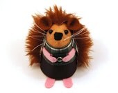 Photographer Hedgehog ornament felt woodland animal cute gift for photographer - Les the Photographer Hedgie - In stock