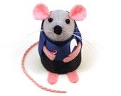 Star Trek Bones McCoy Mouse ornament felt cute gift for animal lover or Star Trek fan collector