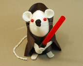 Emperor Palpatine Mouse Star Wars collectable Mouse ornament felt mice rat gift Star Wars Geek animal lover - In stock