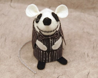 Jack Skellington - Nightmare Before Christmas collectable art rat artists mice cute soft sculpture toy stuffed plush gift for Tim Burton fan