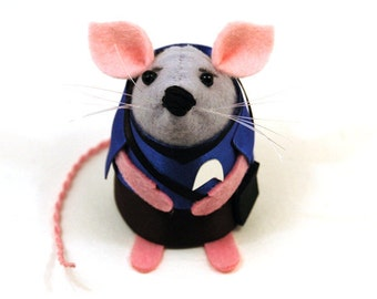 Spock Mouse - Collectable Star Trek art rat artists mice cute soft sculpture toy stuffed plush doll gift for Father's Day dad Trekkie