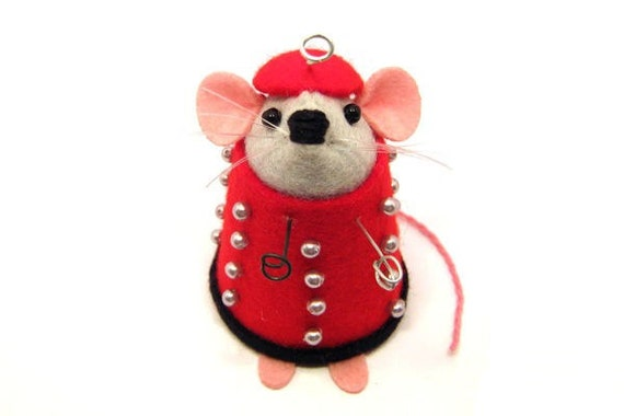 RESERVED - Doctor Who Dalek mouse ornament cute gift for animal lover or dr who collector - Dale the mouse dressed as a Dalek