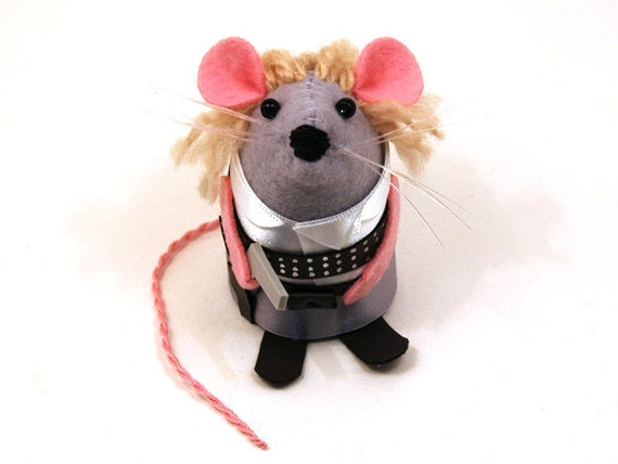 Doctor Who River Song ornament artisan felt mouse rat hamster mice cute gift for doctor who fan River Song gift collector