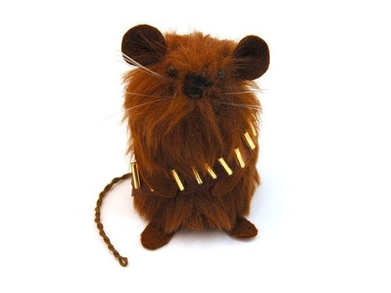 Chewbacca Mouse - handmade ornament