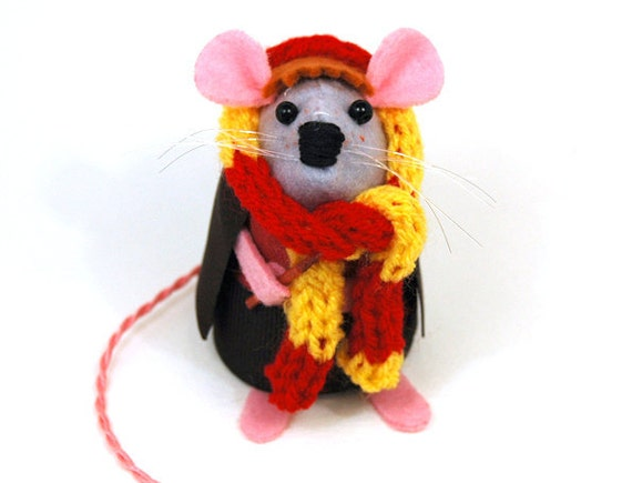 Ron Weasley Mouse Harry Potter Ornament Artisan felt rat mice cute adorable gift for Harry Potter fan Harry Potter gift FREE SHIPPING