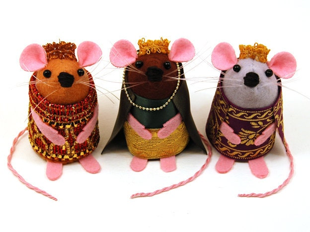 3 Kings Mice Nativity Set Three Wise Rats Collectable Art