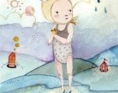 La Marea II - Print - 4x6 - Nursery art - Nursery decor - Kids room decor - Children's art - Children's wall art - kids wall art