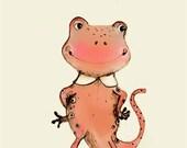 N for Newt - 6x8 - Alphabet art - Alphabet Letters - Baby Zoo Animals - Safari Nursery - Nursery art - Nursery decor - Baby Animals