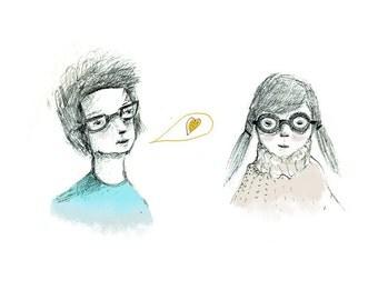 I love your glasses,Print 6x8
