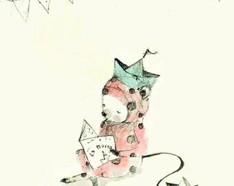 Pipino IV - Print - 4x6 - Nursery art - Nursery decor - Kids room decor - Children's art - Children's wall art - kids wall art