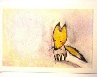 Foxy - PRINT - 4X6 - Nursery art - Nursery decor - Kids room decor - Children's art - Children's wall art - kids wall art