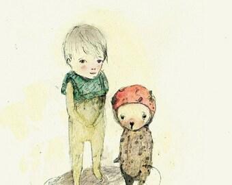 Children's Wall Art, Pipino II, Print, 8x11 inches