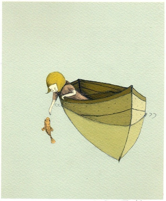 Sofi and the fish Print 6x8