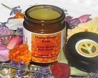 Organic  Flower Power  Balm-Scented  with Flowers- 2 oz