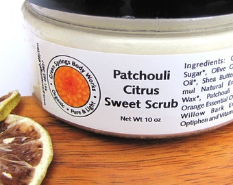 Patchouli Citrus Sugar Scrub - Body Polish