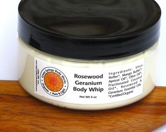 Rosewood Rose Geranium Shea Body Whip
